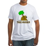 Beaver Tree Hugger Fitted T-Shirt