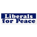 Liberals for Peace (bumper sticker)