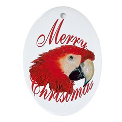 macaw hanging ornament