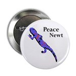 Peace Newt Metal Pinback Button