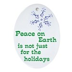 Real Peace on Earth Tree Ornament
