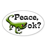 Peace, ok? Gecko bumper sticker