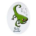 Peace Gecko Yule Tree Ornament