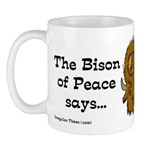 Bison of Peace Coffee Mug