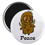 Peace Bison Magnet