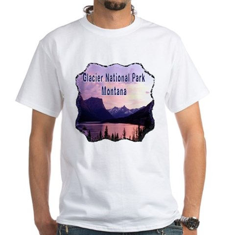 Product Image of Glacier National Park White T-Shirt