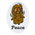 American Bison Peace Ornament