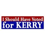 I Should Have Voted for Kerry bumper sticker