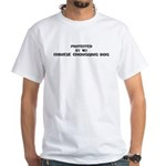Protected by Chinese Chongqin White T-Shirt