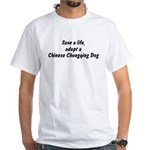 Adopt Chinese Chongqing Dog White T-Shirt