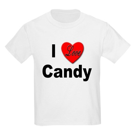 I Love Candy (Front) Kids T-Shirt