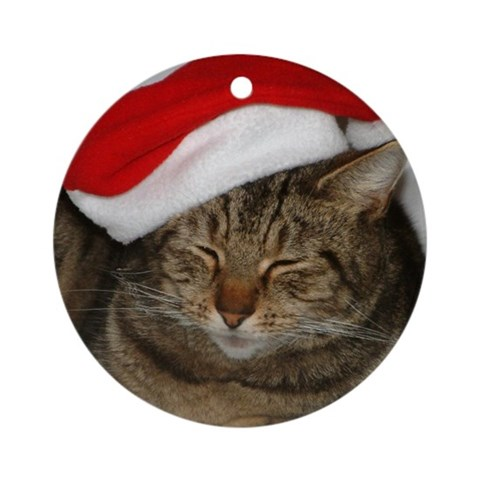 Christmas Cat Ornament Round Pets Round Ornament by CafePress