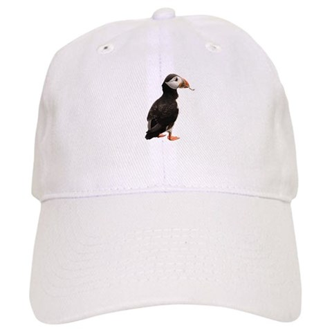 - with Puffin Black Cap by CafePress