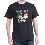 Shoot Like A Girl Female Military Veteran T-Shirt