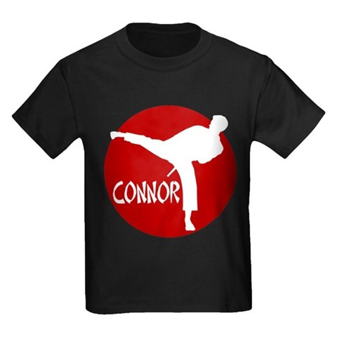 -Connor Karate  Sports Kids Dark T-Shirt by CafePress