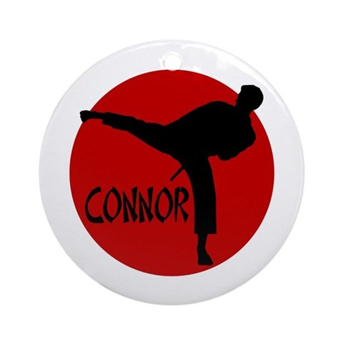 -Connor Karate Ornament Round Sports Round Ornament by CafePress
