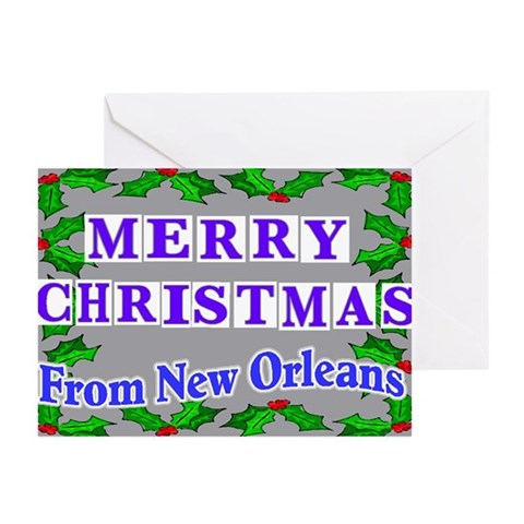New Orleans Christmas Cards Christmas Greeting Cards Pk of 10 by CafePress