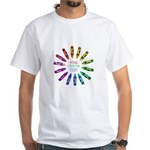 Custom Colorful Crayon Circle T-Shirt