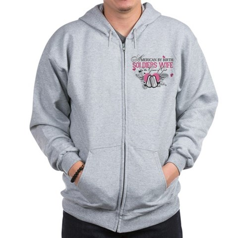 For Angie Military Zip Hoodie by CafePress