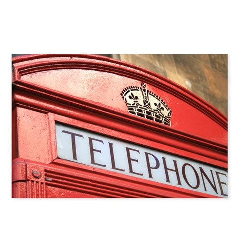 - phone British Postcards Package of 8 by CafePress