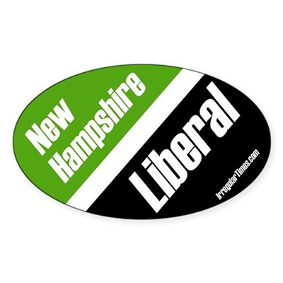 New Hampshire Liberal oval bumper sticker