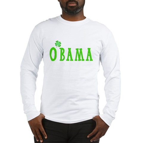 Product Image of St. Patrick's Day O'Bama Men's Long Sleeve T-Shirt