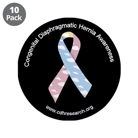 CDH Awareness Ribbon 3.5quot; Button 10 pack Health 3.5 Button 10 pack by CafePress