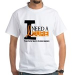 I Need A Cure MS White T-Shirt