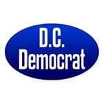 D.C. Democrat oval bumper sticker