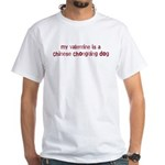 Chinese Chongqing Dog valenti White T-Shirt
