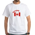 CANADABIS GIFT DISTRESSED RED AND WHITE LE T-Shirt
