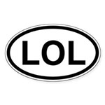 Laugh out loud sticker for those who like to laugh at the world