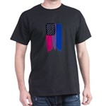Bisexual Painted Stars and Stripes T-Shirt