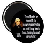 Jefferson on Liberty Magnet