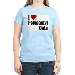 I Love Polydactyl Cats Women's Pink T-Shirt
