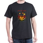 Autumn Leaves Pumpkin Skulls T-Shirt