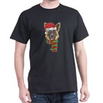 Funny Christmas Dog Xmas Santa German Shep T-Shirt