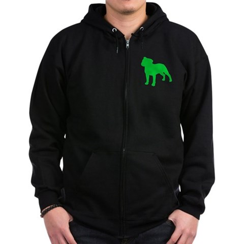 Staffordshire Bull Terrier St. Patty's Day Zip Hoo St. patrick's day Zip Hoodie dark by CafePress