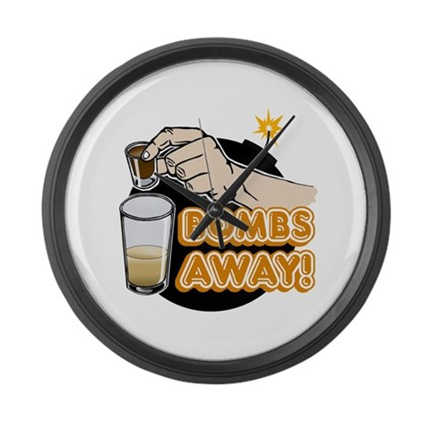 Bombs Away  Party Large Wall Clock by CafePress