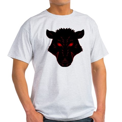 Razorback Logo  Pig Light T-Shirt by CafePress