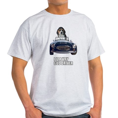 LOL Beagle Driver Pets Light T-Shirt by CafePress