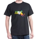 Massachusetts - Heart Rainbow T-Shirt