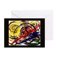 Abstract 'Springs' Greeting Cards (Pk of 10)