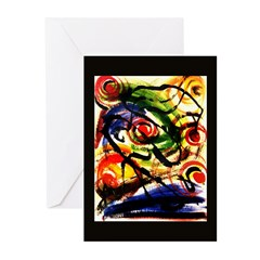 Abstract 'Atomic Energy' Greeting Cards