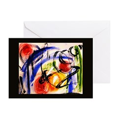Abstract 'Space Travel' Greeting Cards