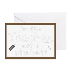I'm the Teacher 2 Note Cards (Package of 6)