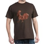 Brown Rooster Silhouette T-Shirt