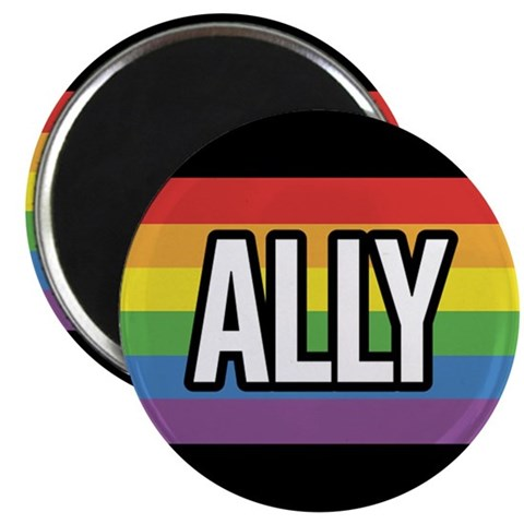 ALLY 2.25 inch Magnet 100 pack Gay 2.25 Magnet 100 pack by CafePress