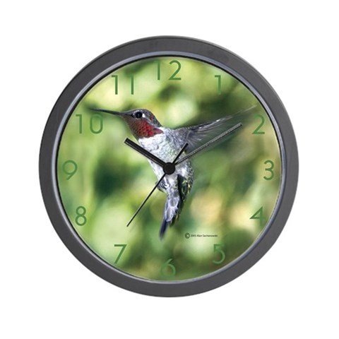 Hummingbird  Photography Wall Clock by CafePress