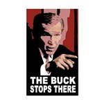 Bush: The Buck Stops There (bumper sticker)